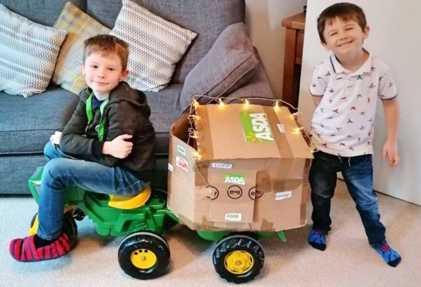 Logan and Jenson are so obsessed with Asda Isle of Wight that they've made their own delivery van!
