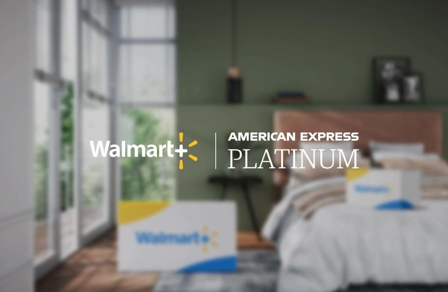 Walmart+ and Amex Logo Mockup