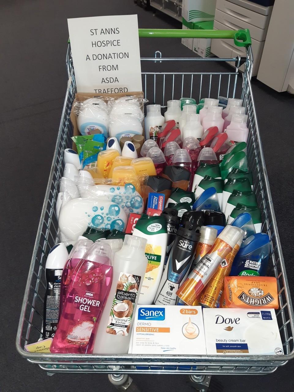 Donation for St Ann's hospice | Asda Trafford Park