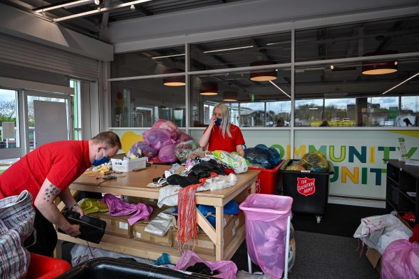 Salvation Army drop and shop collections at Asda Middleton sustainability store