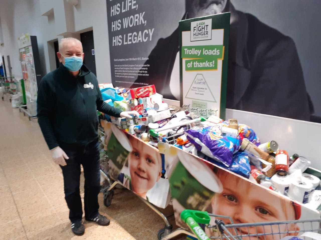 Thanks for your food bank support | Asda Blantyre