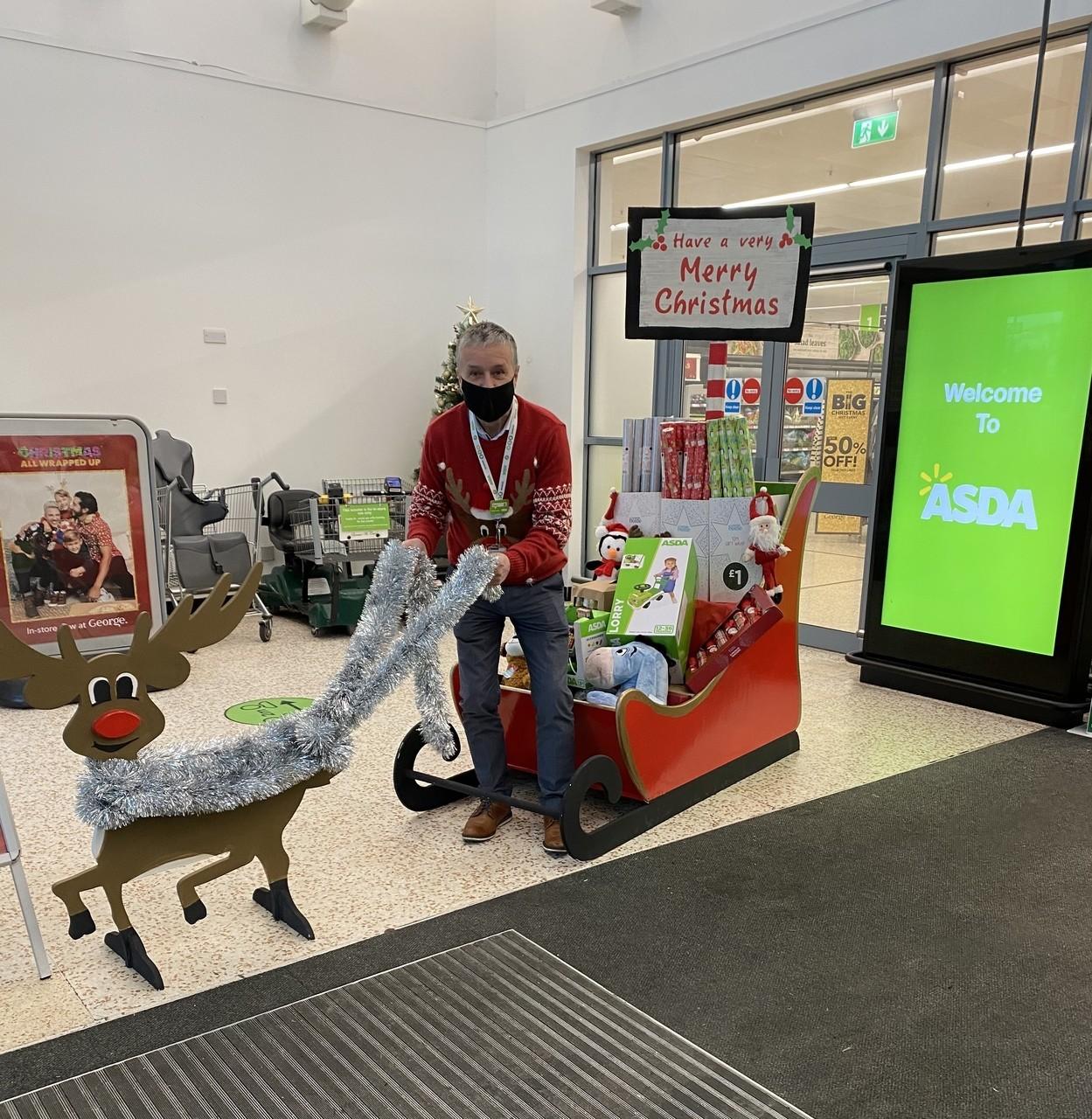 Peter helping Santa for 45 years | Asda Cookstown
