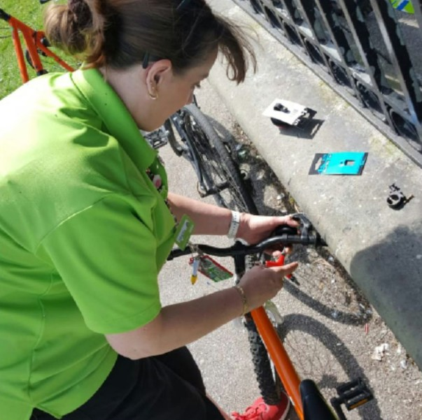 Tracey Collins from Asda Small Heath has been named on UK Cycling's 100 women in cycling list