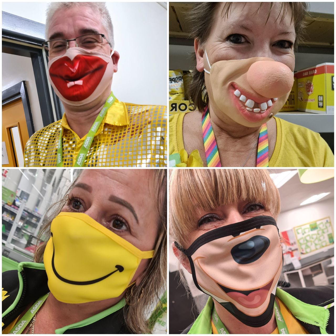 Crazy mask day for Mountbatten Hospice | Asda Newport Isle of Wight