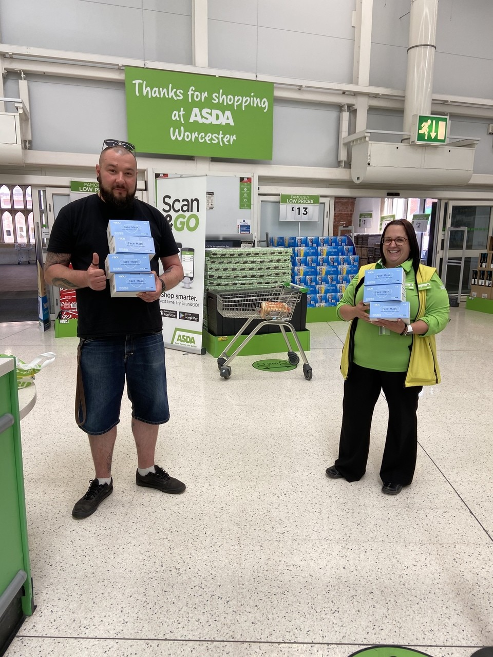 Masks donation  | Asda Worcester