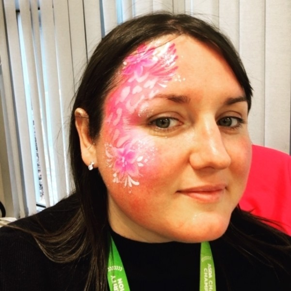 Naomi Francoisy from Asda supports Tickled Pink