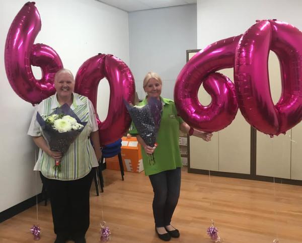Twins  Pauline Seddon and Carol McEvoy from Asda Ellesmere Port