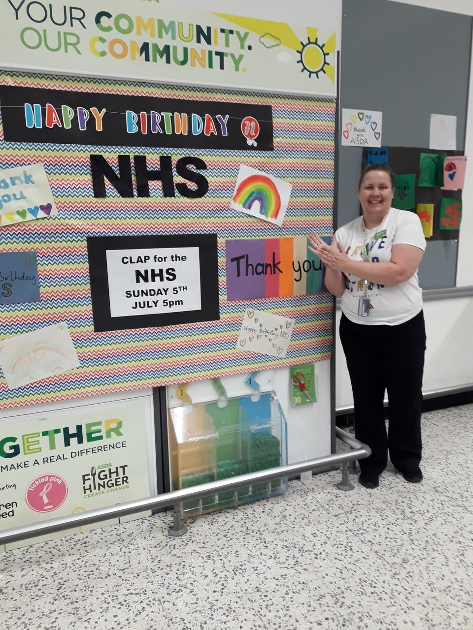 Happy 72th Birthday NHS | Asda Bromborough