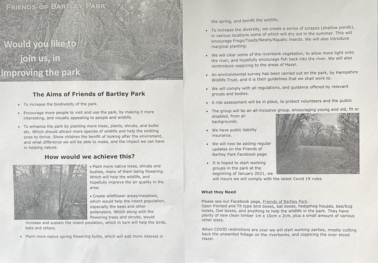 Friends of Bartley Park | Asda Totton
