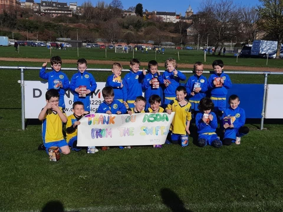 Easter Treat for Inverkeithing Hillfield Swifts | Asda Dalgety Bay