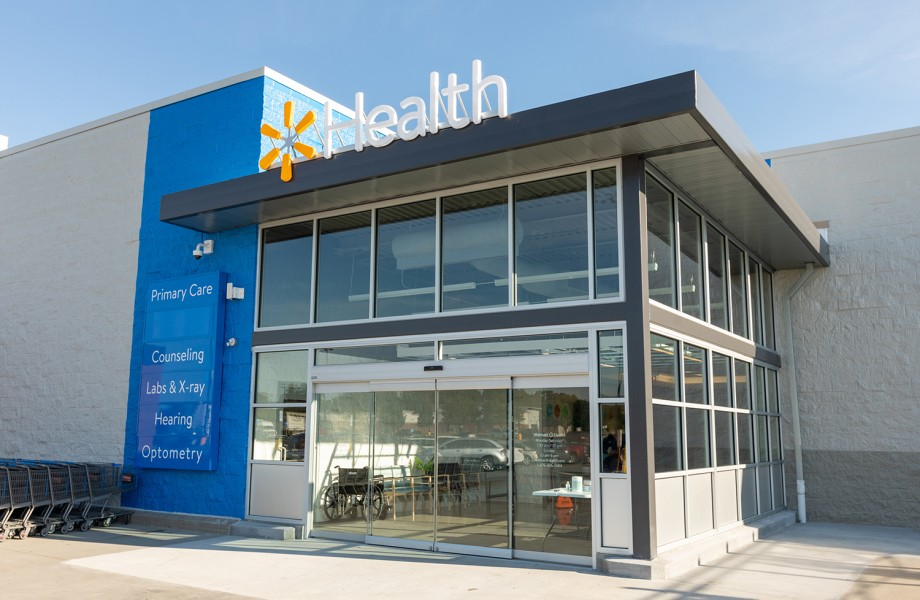 Walmart Health Center Exterior Angle