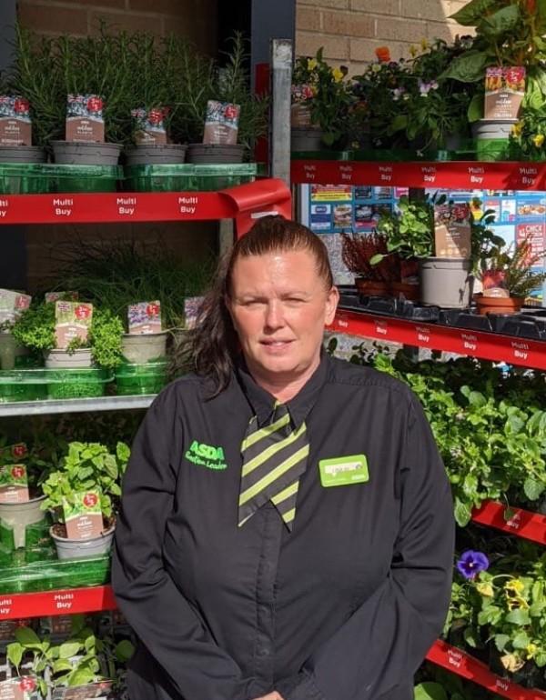Lisa Clarke from Asda Bexleyheath Crook Log supermarket