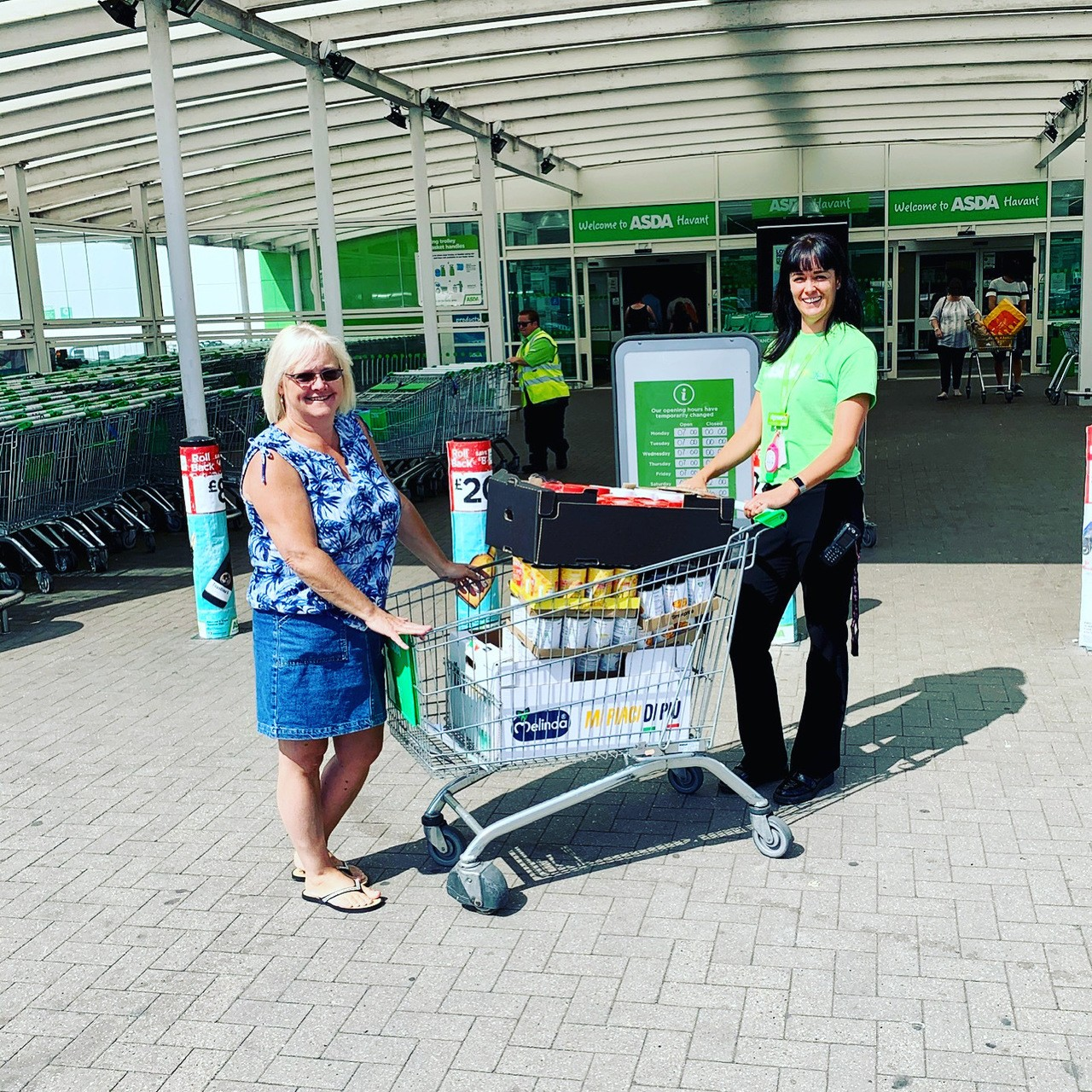 Donation to Beacon Food Bank | Asda Havant