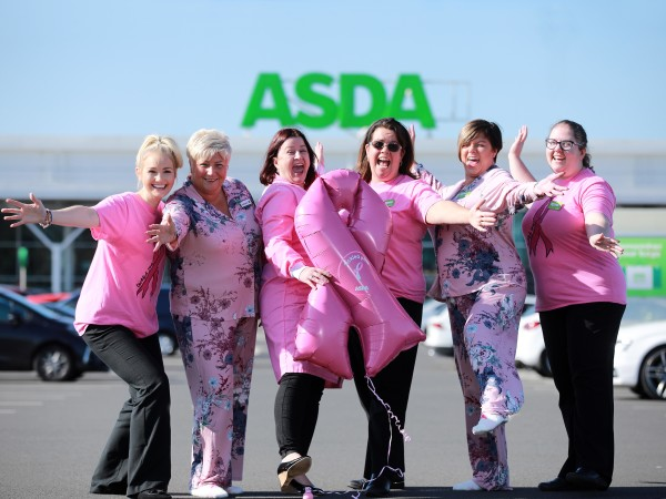 Colleagues from Asda stores in Northern Ireland support our Tickled Pink breast cancer campaign