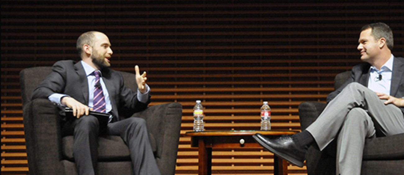 Doug McMillon on stage at Stanford Graduate School of Business