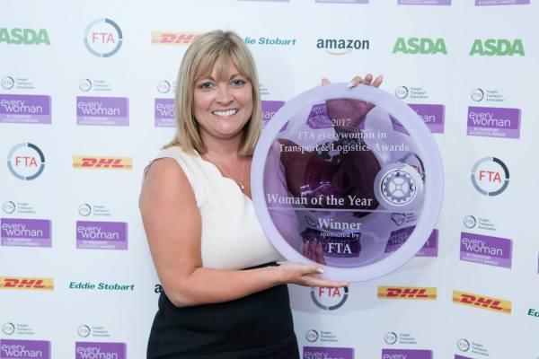 Julie McCaffery accepting award
