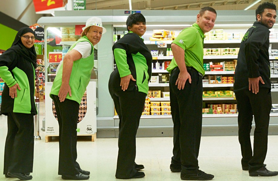 Five ASDA associates are tapping their pocket book area