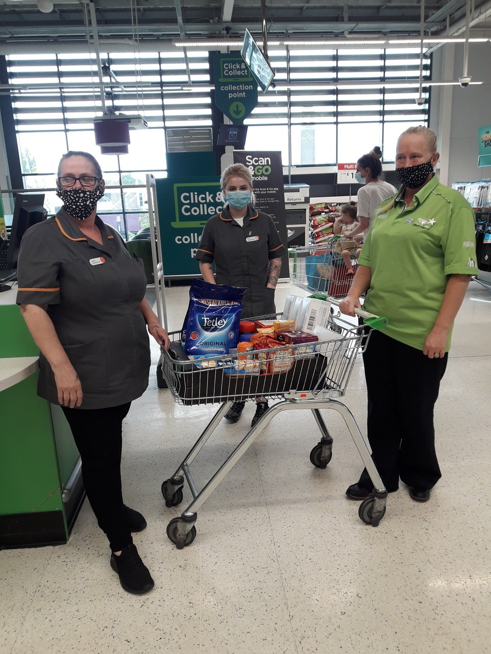Donations from Asda Swinton to thank local care home staff | Asda Swinton