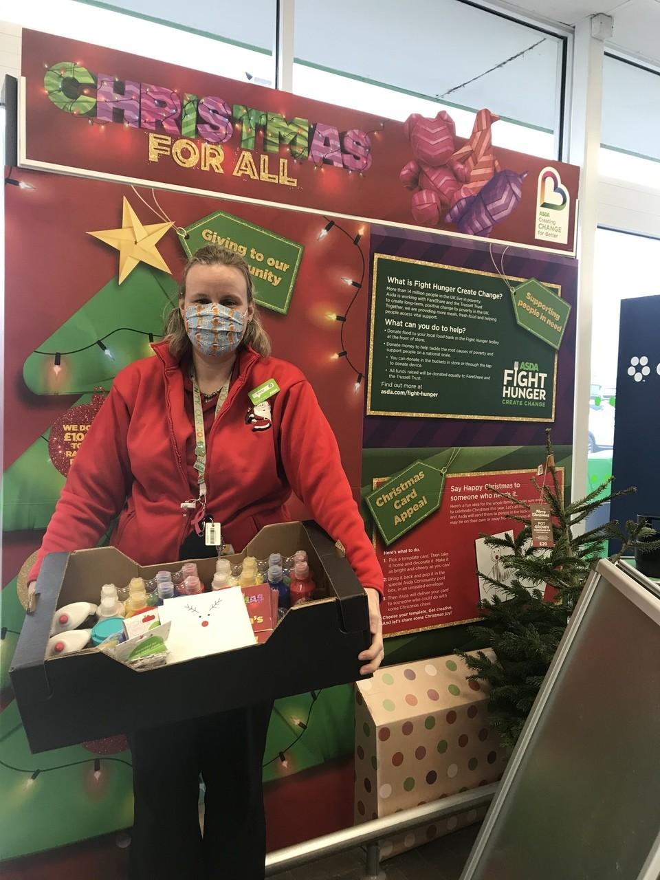 Craft donation for Christmas Cards | Asda Gillingham