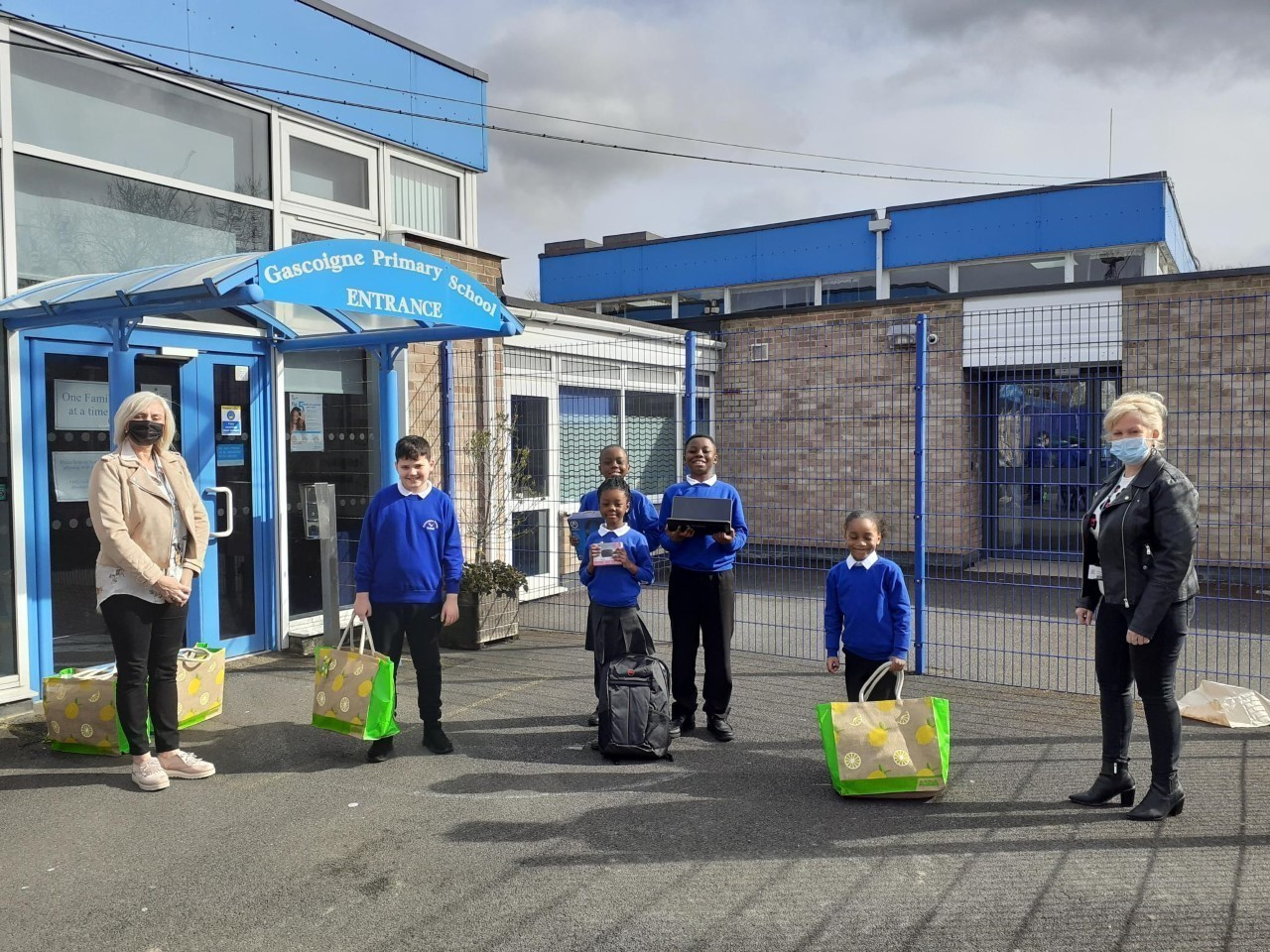 Laptop donation at Gascoigne Primary School  | Asda Barking