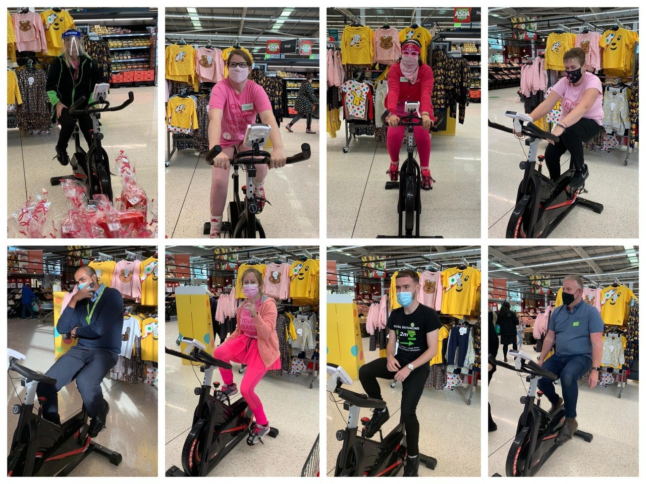 Tickled Pink spin bike marathon  | Asda Milton Keynes