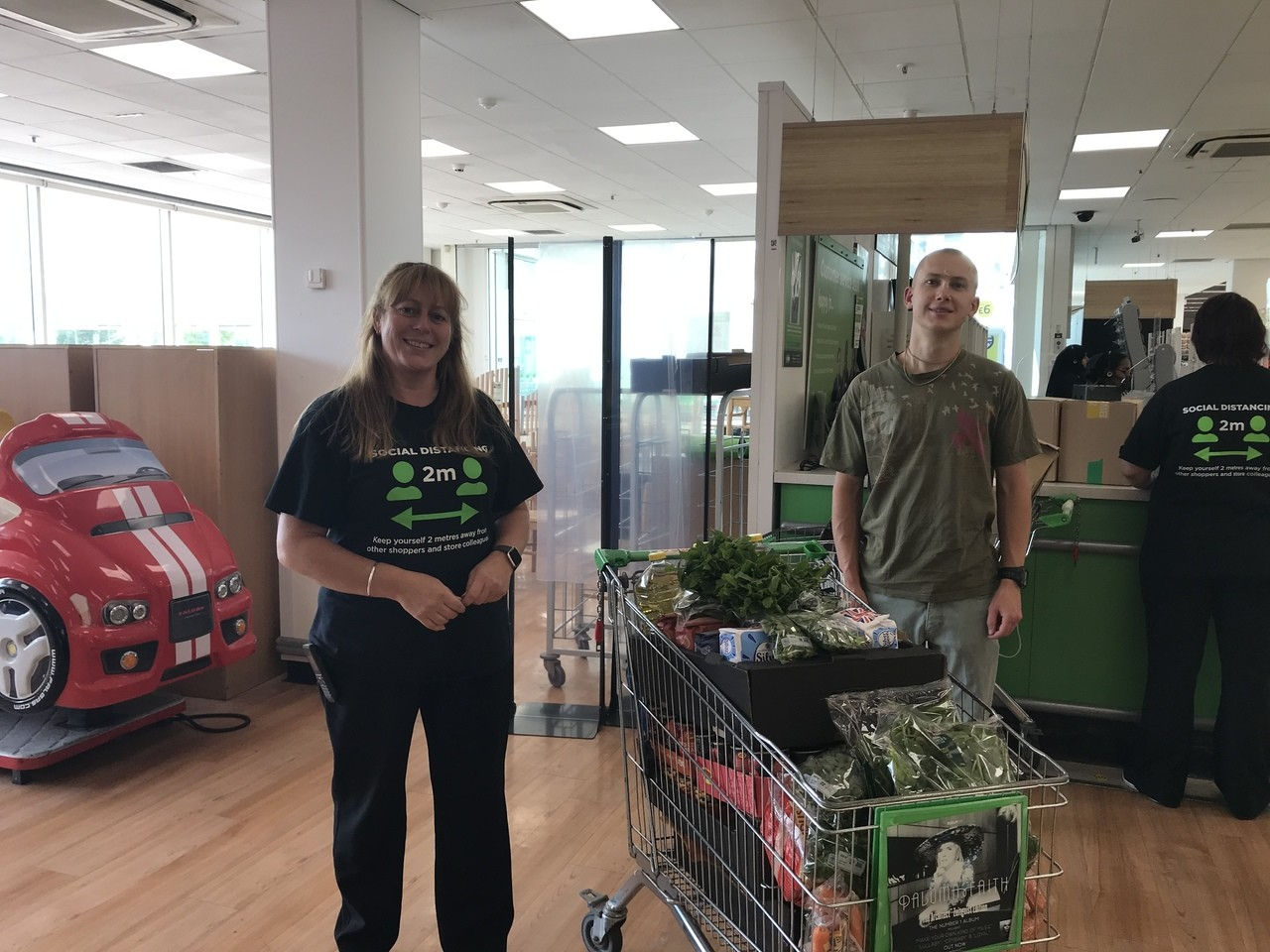 Donation to Food For Wales | Asda Cardiff Bay