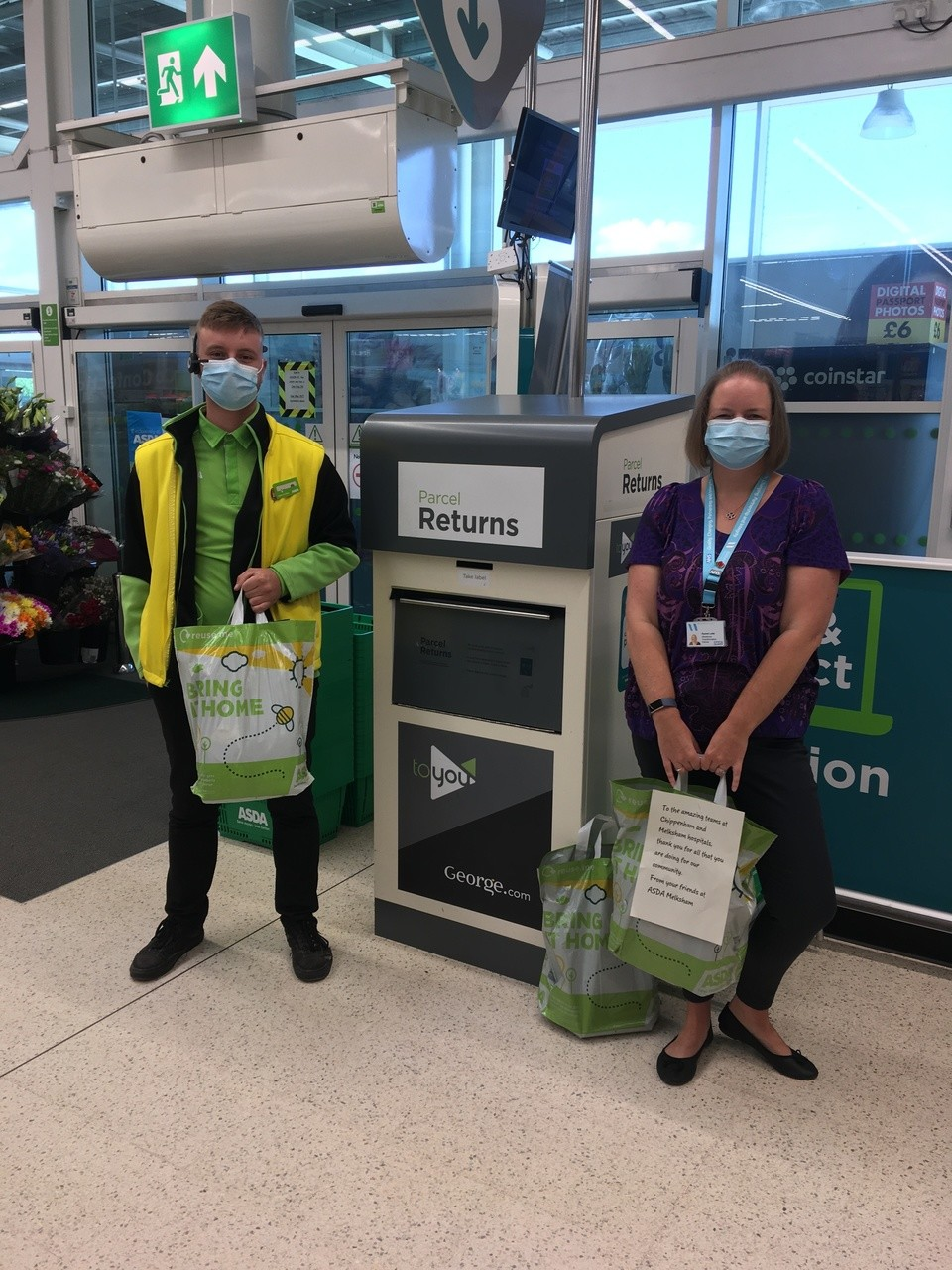 Donation to local hospital heroes | Asda Melksham