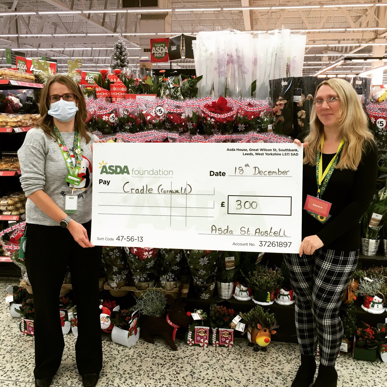 Cradle - Christmas giving donation  | Asda St Austell