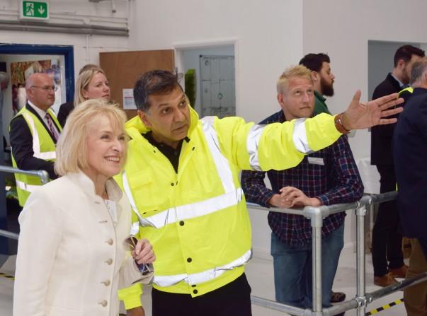 Volunteer manager Sadiq Ahamed with FareShare patron Rosemary Conley