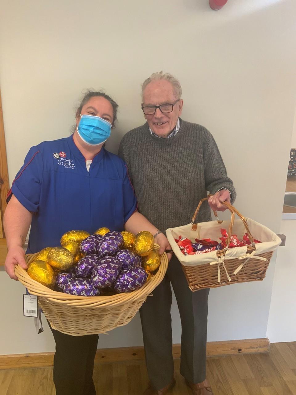 Easter Egg Donation to the Cedars care home ❤️   Asda Swindon Haydon