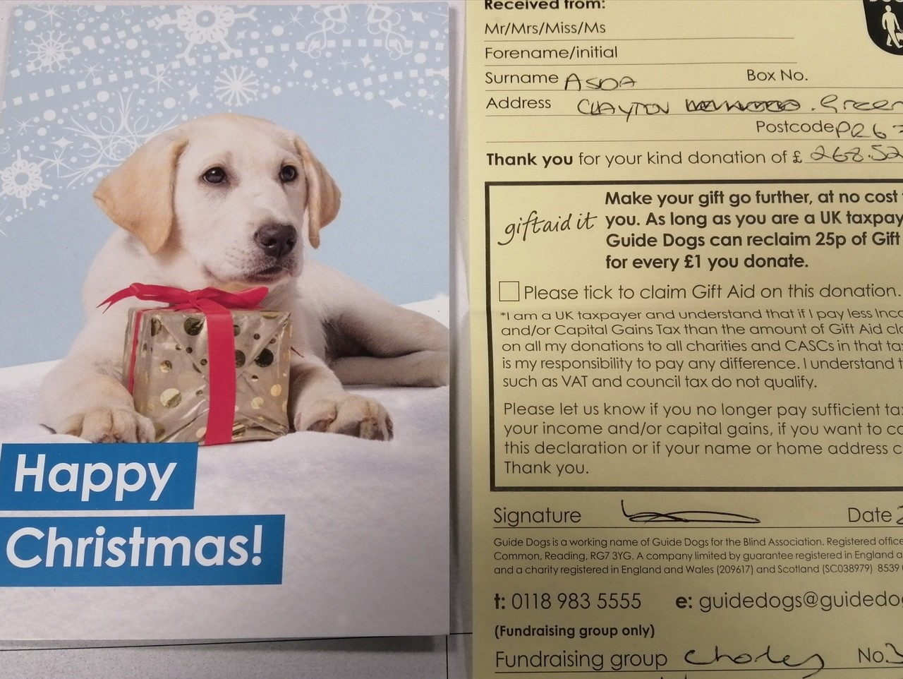 Thank you to our kind customers at Clayton Green the Guide Dogs received £268.52 in donations | Asda Clayton Green