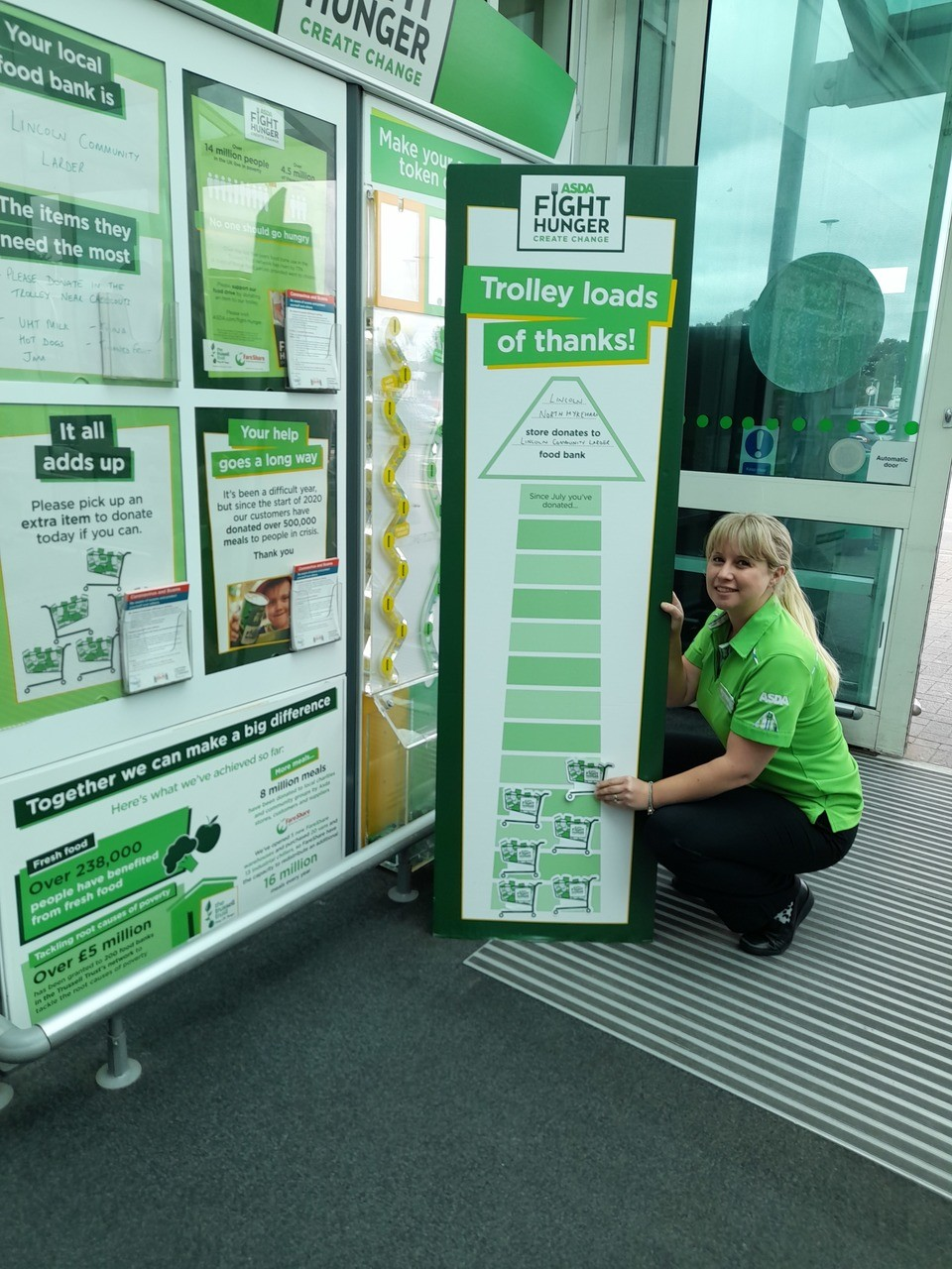 Fight Hunger Create Change | Asda Lincoln North Hykeham