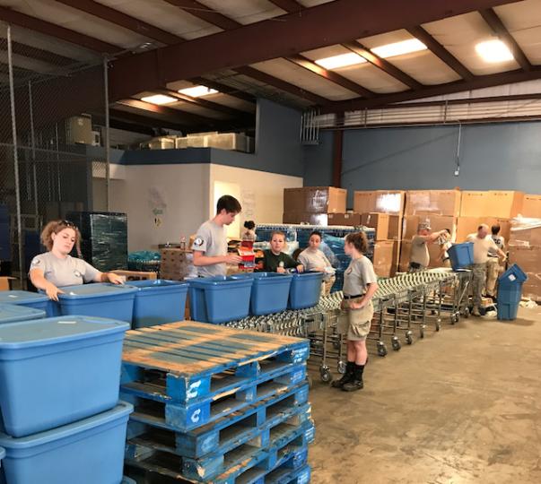 Disaster relief volunteers