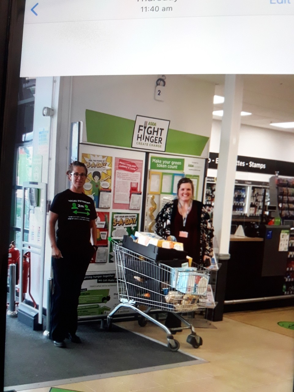 Donation of food to Mendip Green School | Asda Weston-super-Mare