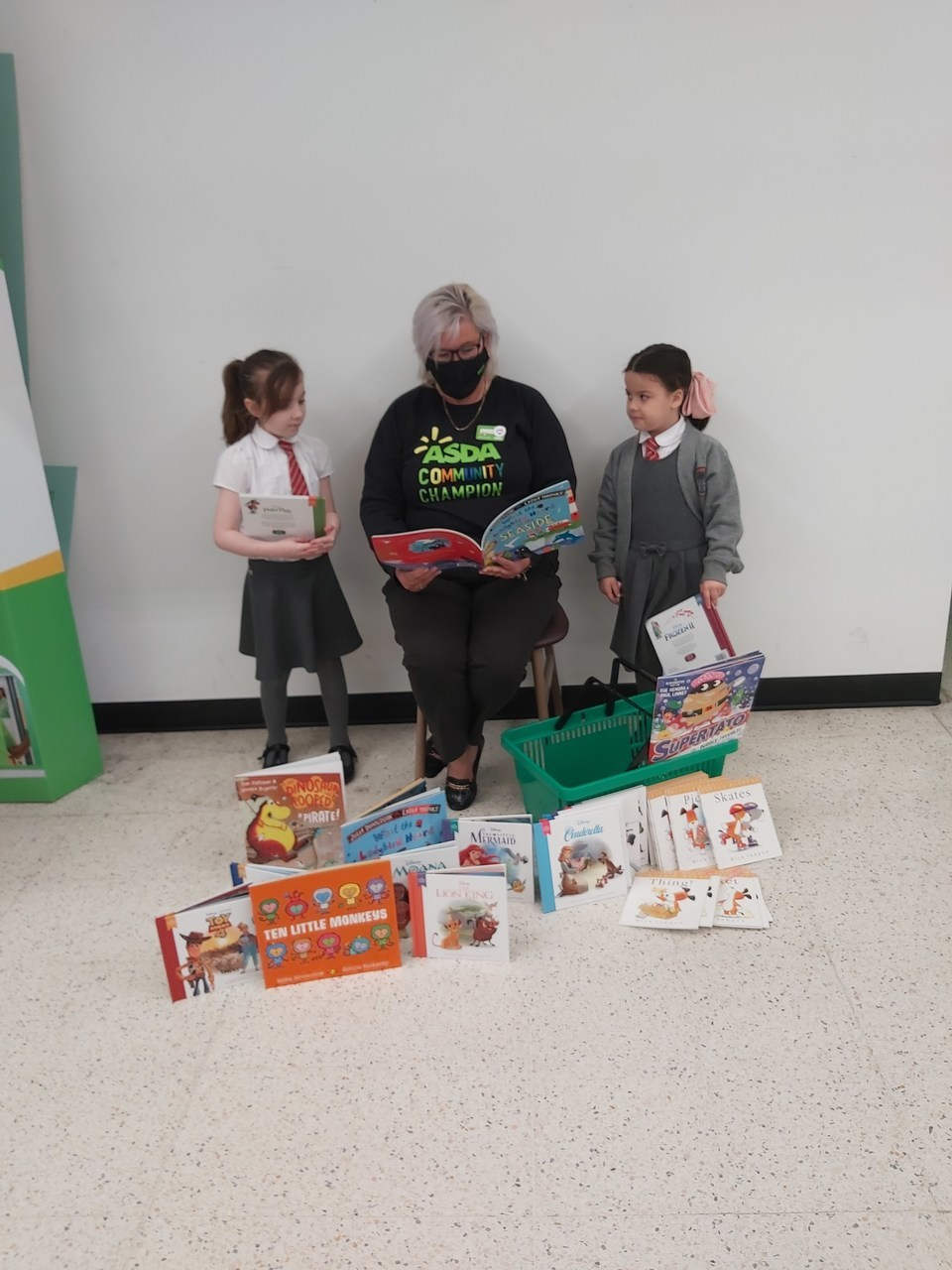 Donation to Dawley school | Asda Donnington Wood