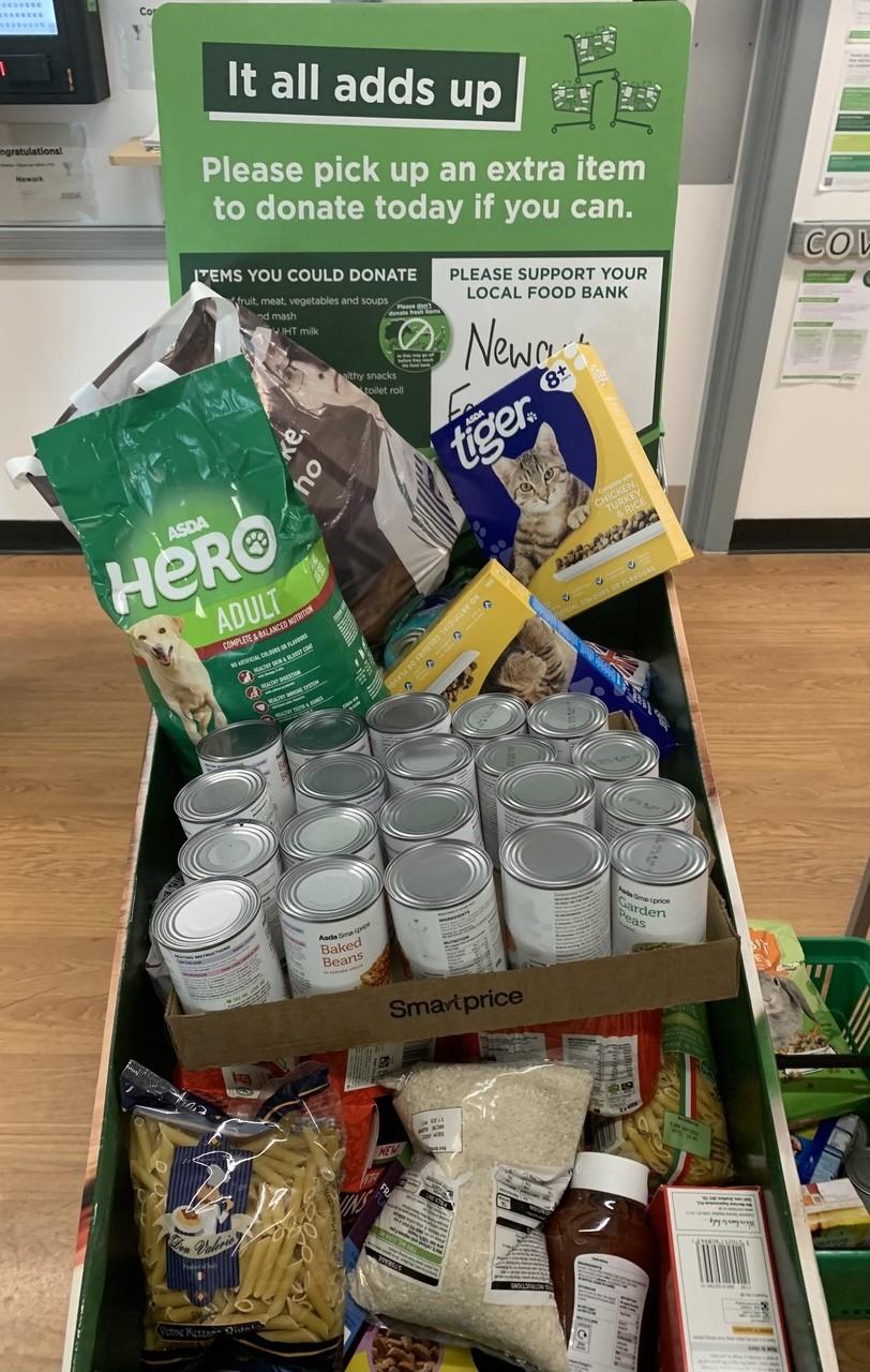 Foodbank Donations | Asda Newark