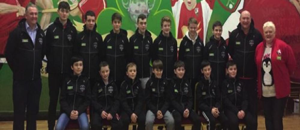 St Patricks U14 Hurling team receive an Asda grant