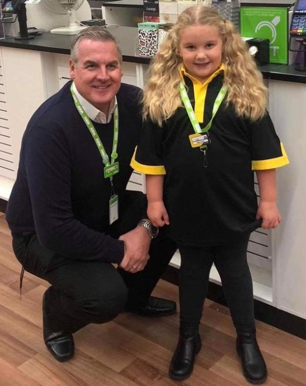 Asda Havant store manager Steve with Lily