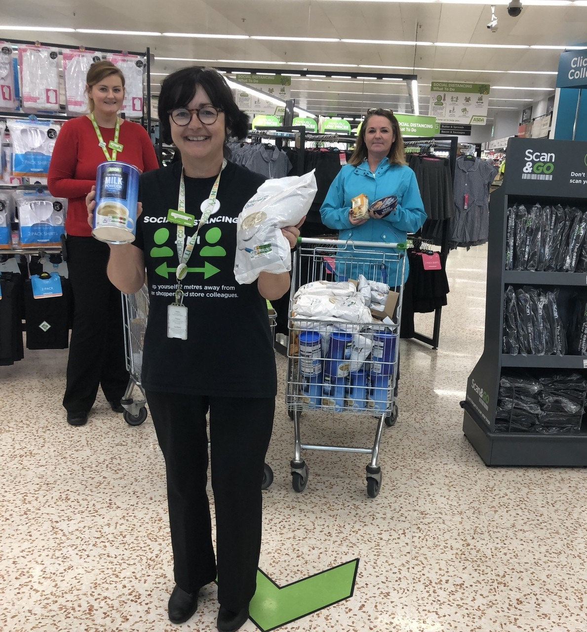Food donation to SVDP Cookstown  | Asda Cookstown