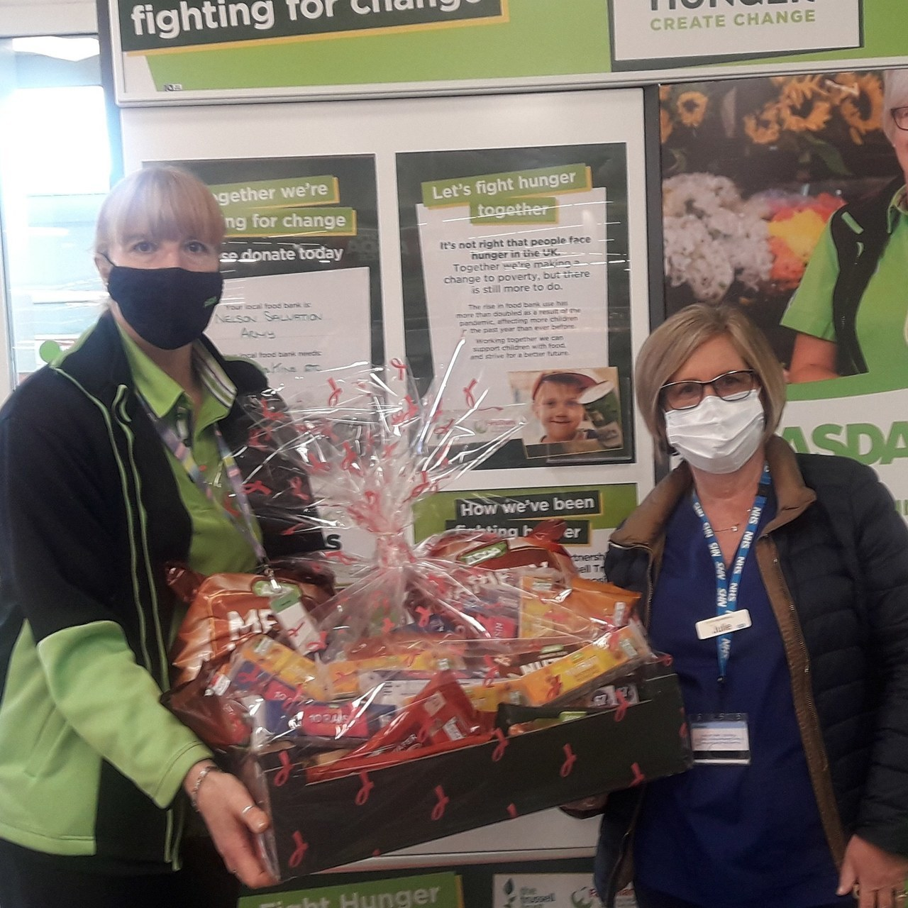 Donation of snacks to the volunteers at our vaccination centre | Asda Colne