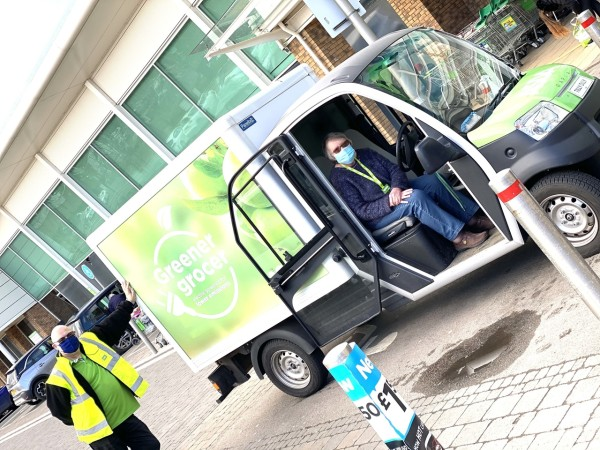 Tilly Dilly electric van at Asda Rugby
