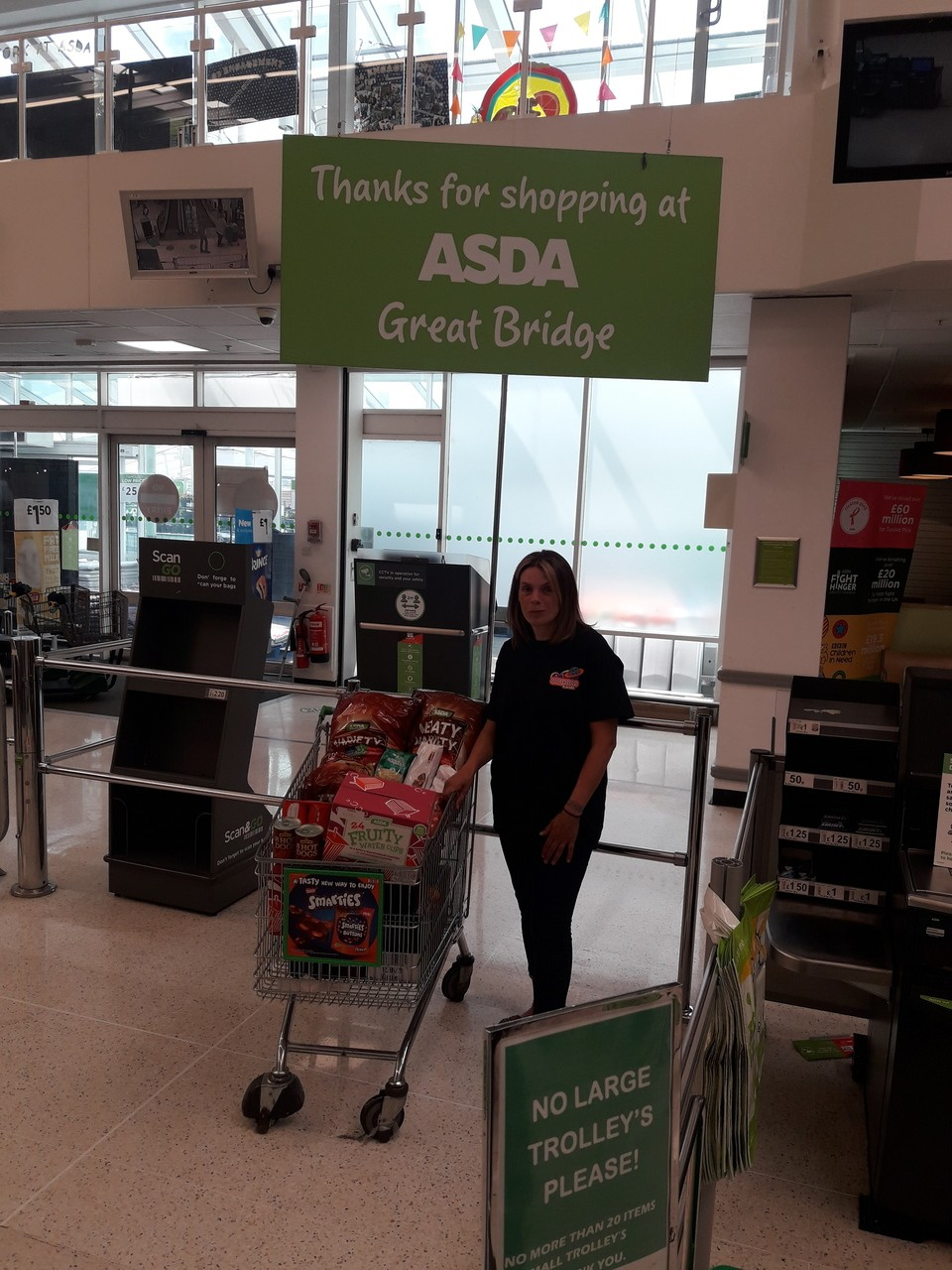 Food parcel donation  | Asda Great Bridge