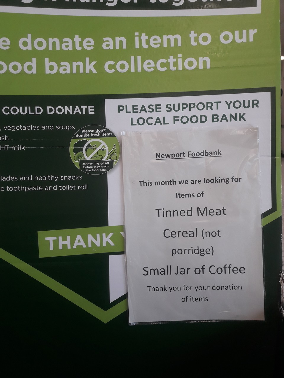Newport Foodbank thanks  | Asda Newport