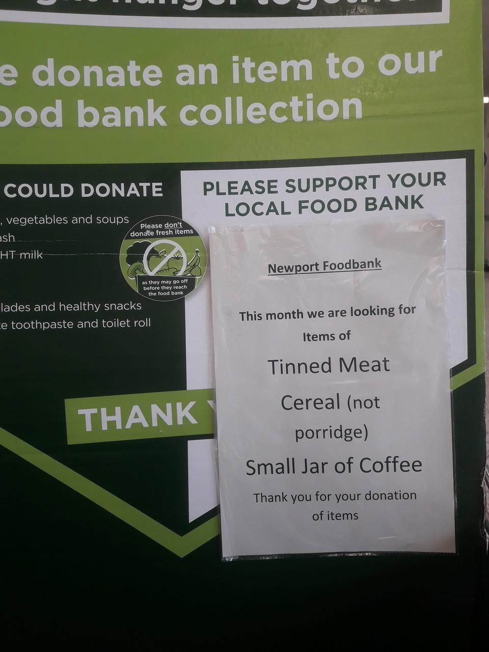 Newport Foodbank thanks | Asda Newport