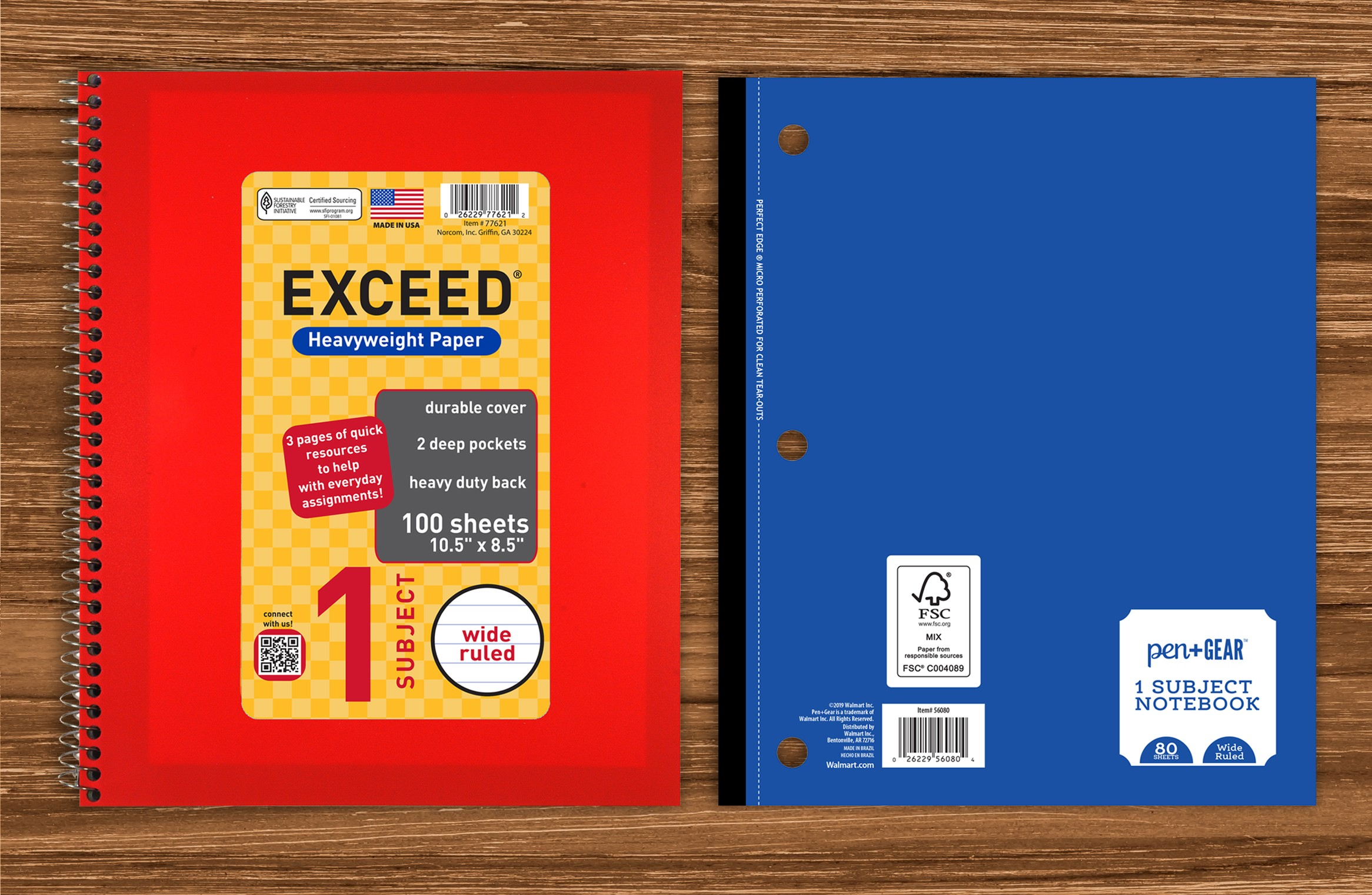 SFI and FSC notebooks