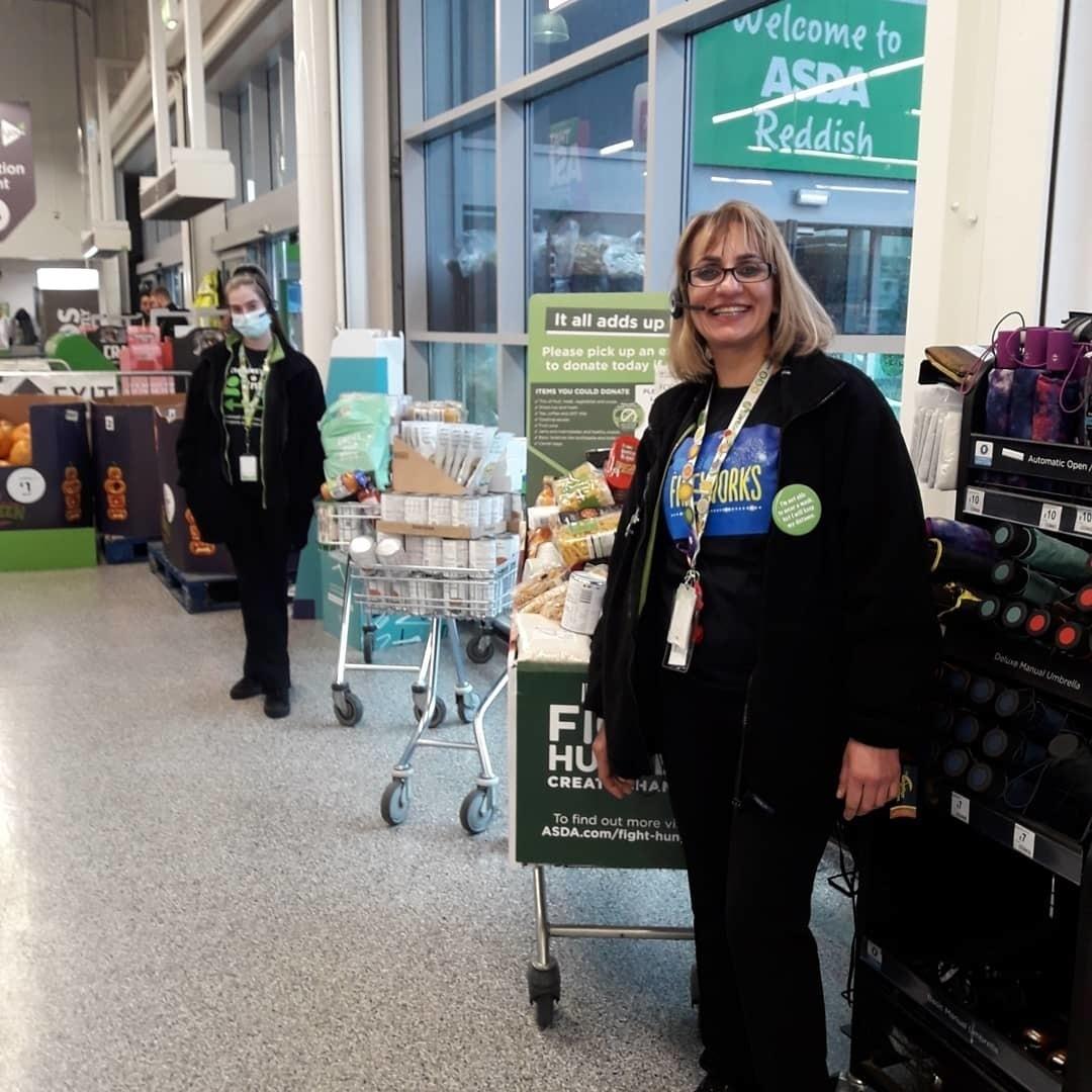 Incredible support for Burnage Foodbank | Asda Reddish