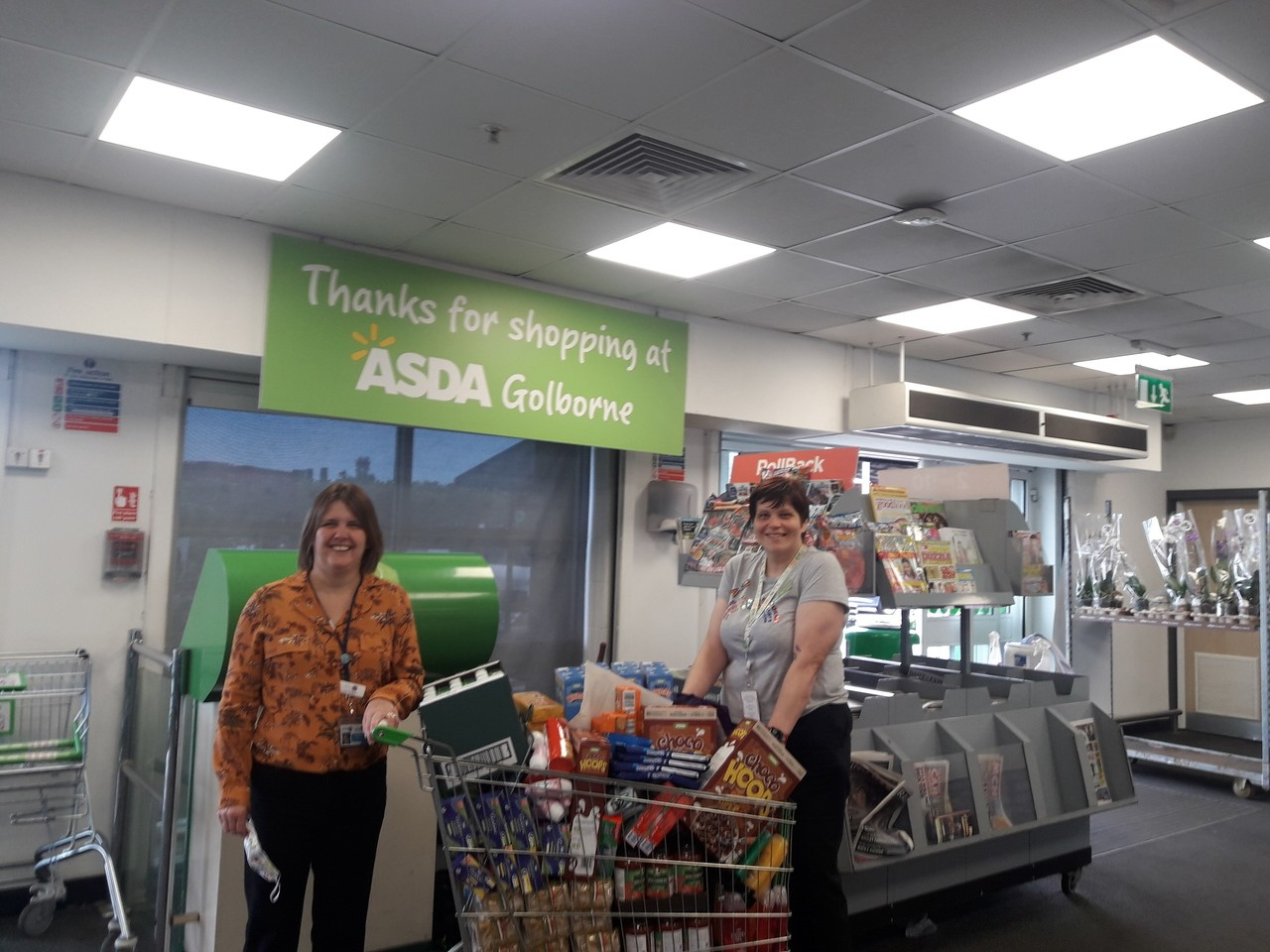 Donation to People First Support CIC | Asda Golborne