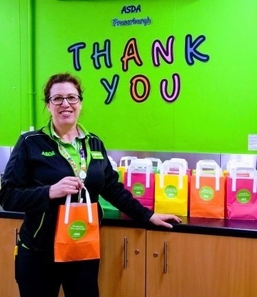 Gift bags for Fraserburgh Hospital patients | Asda Fraserburgh