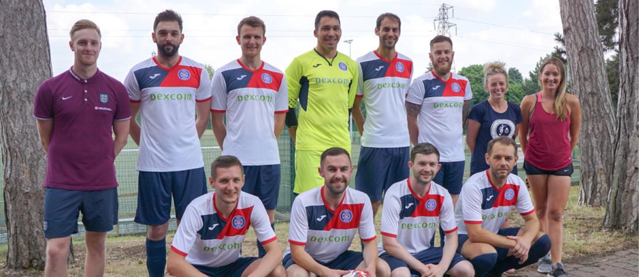 Toby McCauley from Asda Havant with the UK futsal team