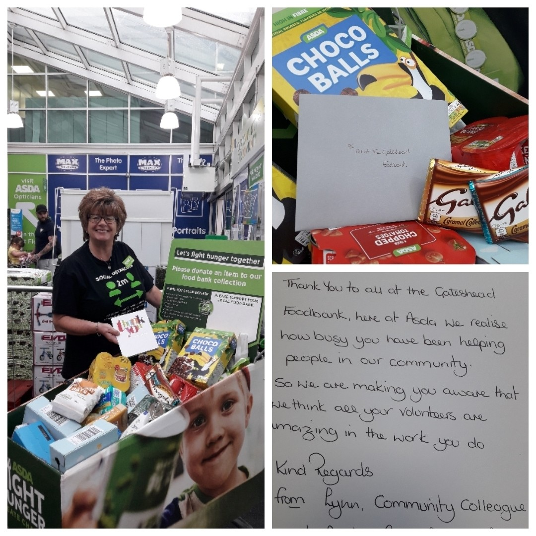 Thanks to Gateshead Foodbank | Asda Gateshead